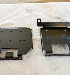 locate and purchase a mounting plate made for your specific utv for this installation we will be mounting the winch in a polaris xp 1000 with a shock  [ 1200 x 800 Pixel ]