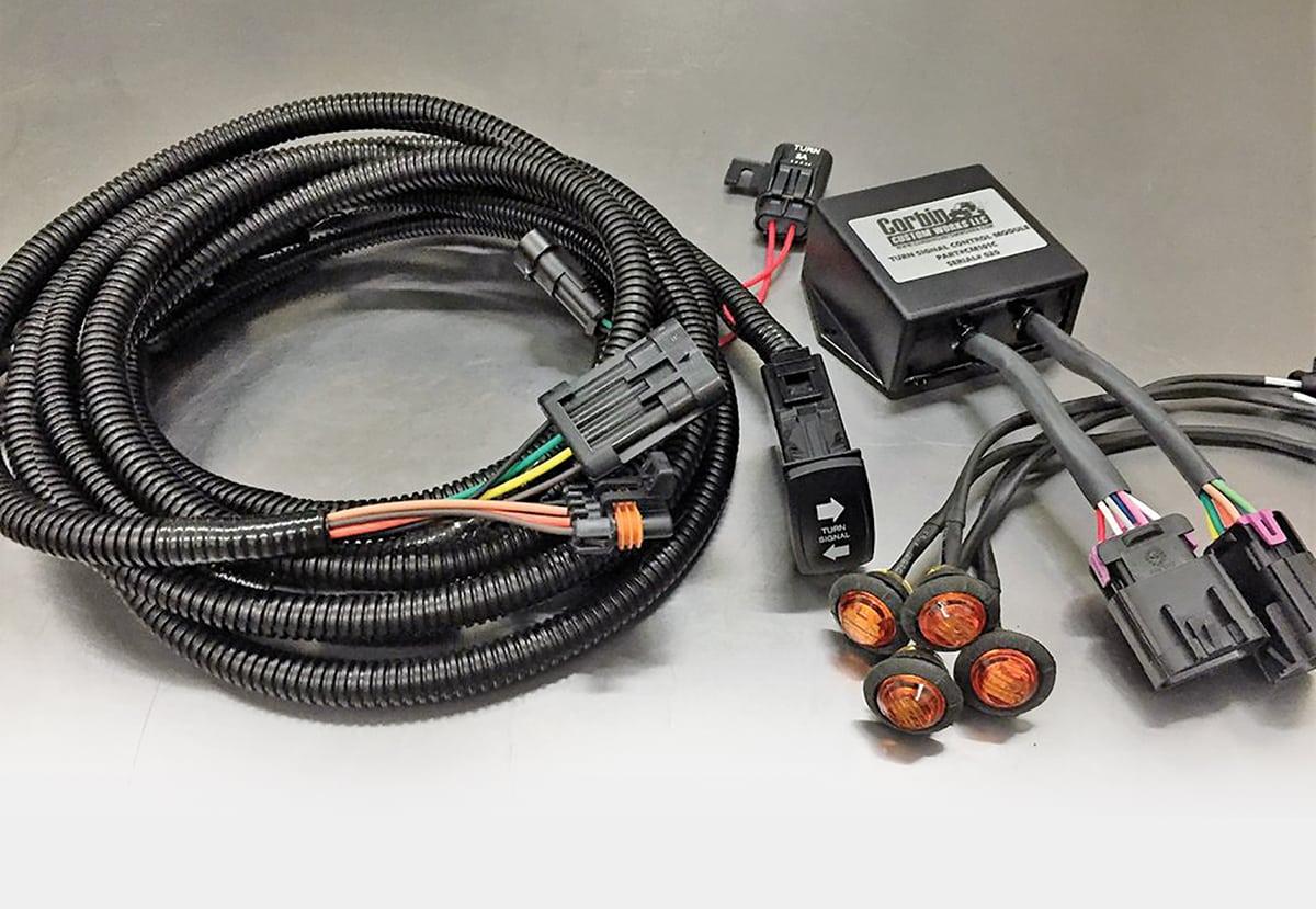 hight resolution of corbin custom works plug and play turn signal kit