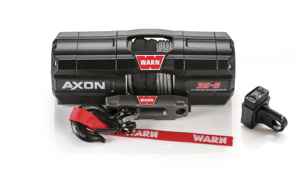 medium resolution of 101130 warn winch with synthetic rope axon 35 s