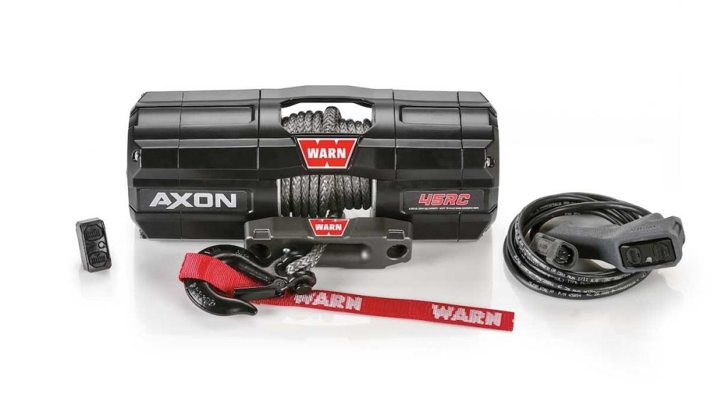 medium resolution of 101240 warn winch with synthetic rope axon 45rc