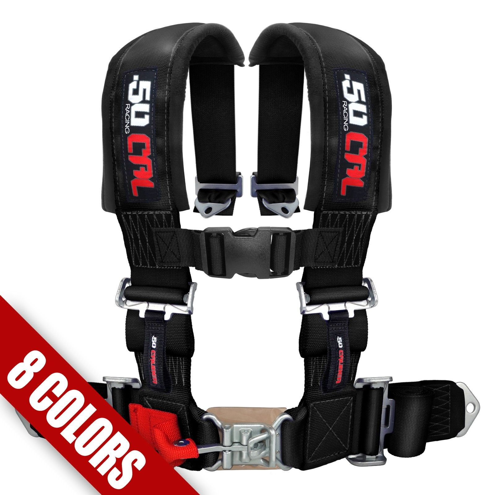 2 4 Point Racing Safety Harness Seat Belt Padded Shoulder
