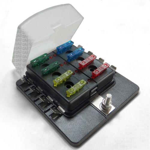 small resolution of universal 8 way covered 12v circuit blade fuse box with led indicators and accessories