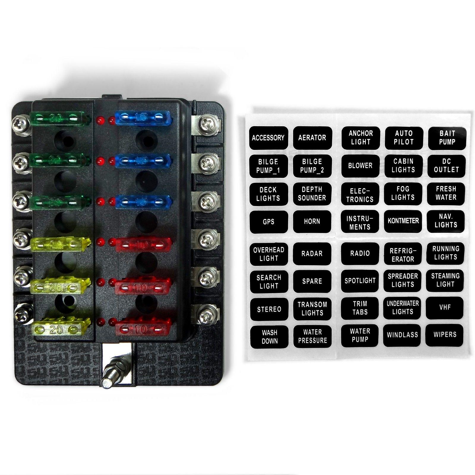 hight resolution of 12 way car fuse box