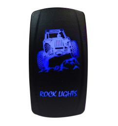 illuminated 50 caliber racing on off rocker switch with laser etched design rock  [ 1600 x 1600 Pixel ]