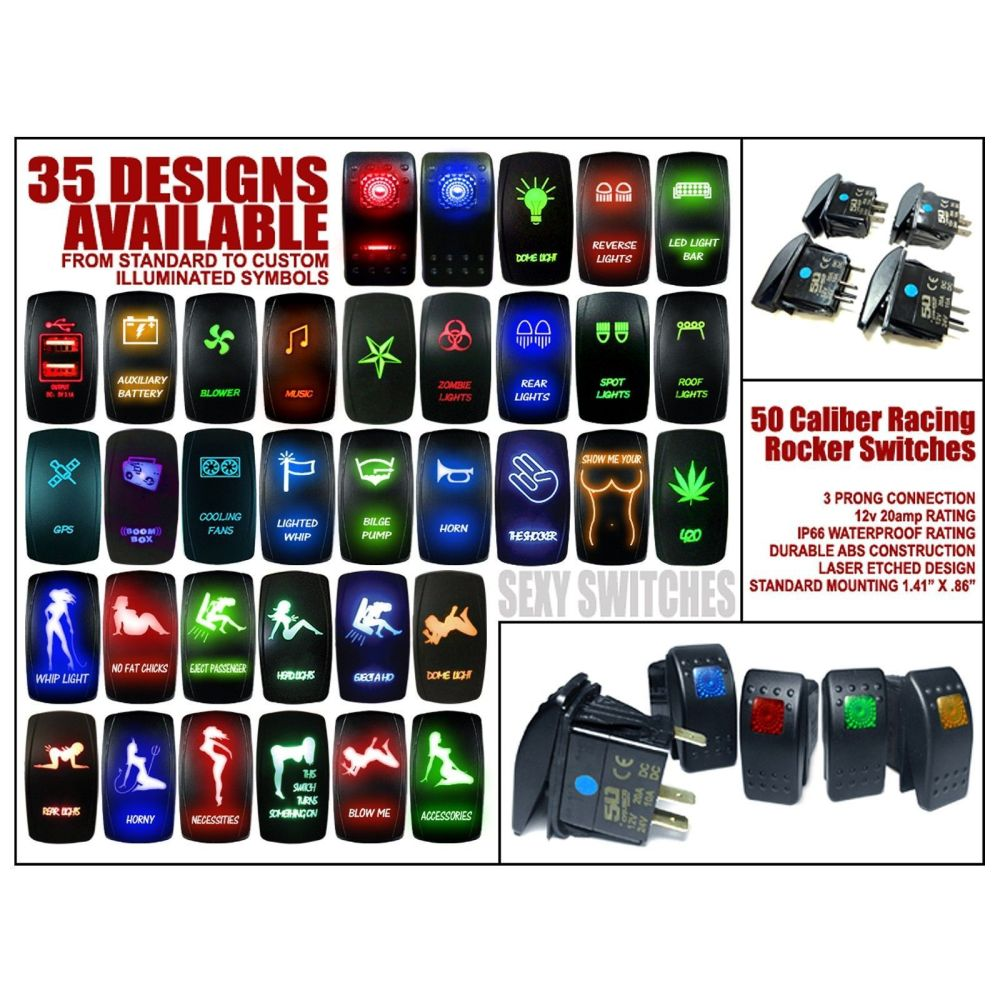 medium resolution of  rocker 12v automotive rocker switch carling etched y girl led whip light on rocker light switch cover whip lights rocker switch wiring diagram