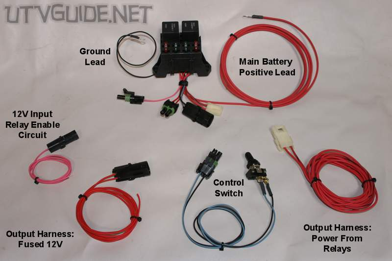 two lights one switch wiring diagram bending moment for cantilever beam with udl 12v accessory guide utvs - utv