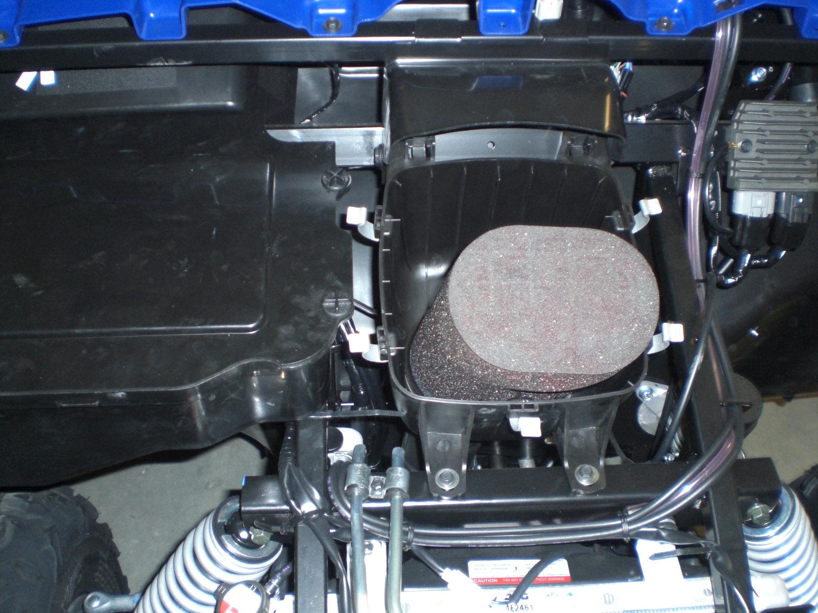 hight resolution of  2008 yamaha rhino under hood air filter
