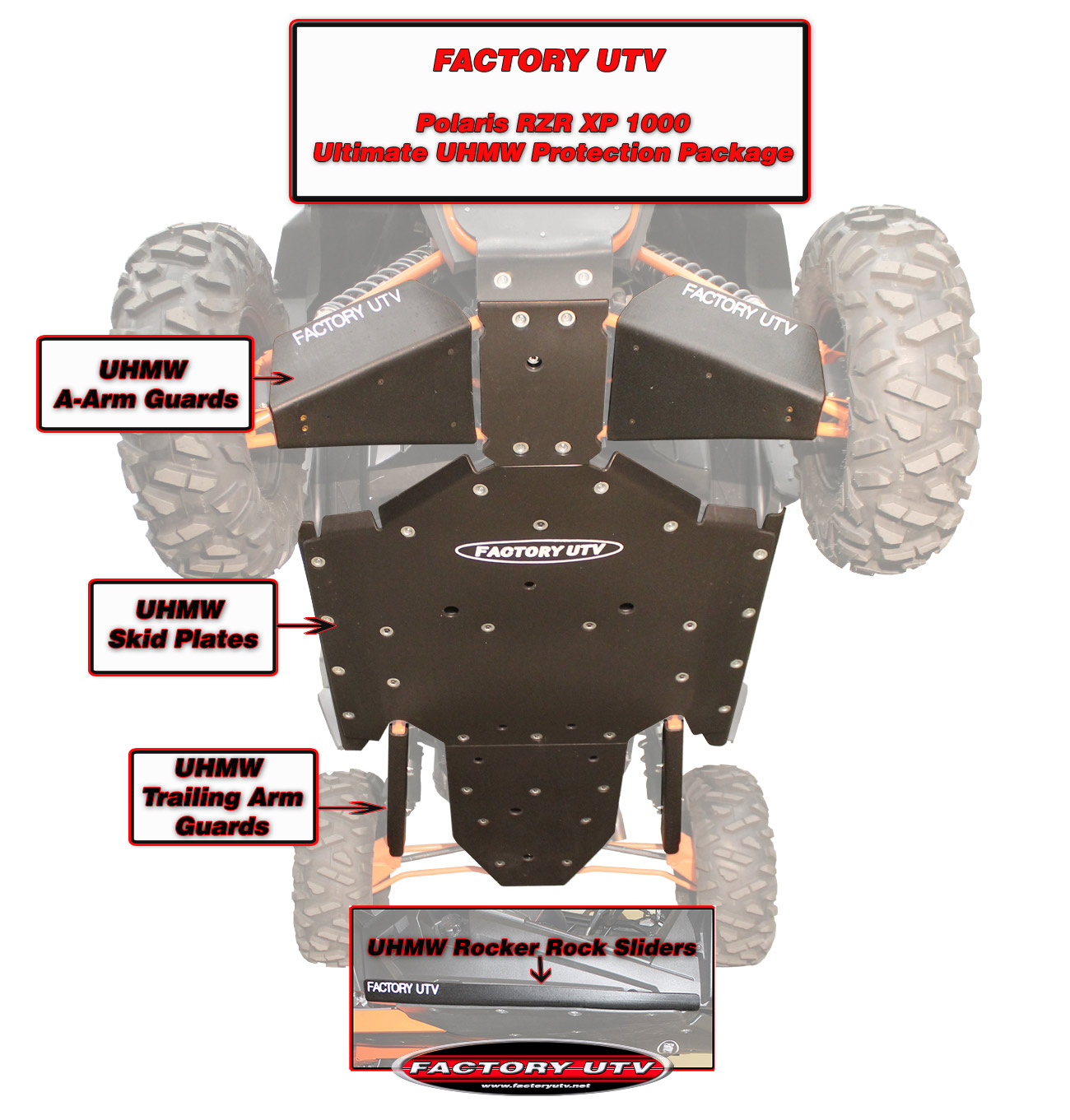 hight resolution of rzr xp 1000 skid plate