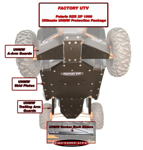 small resolution of rzr xp 1000 skid plate