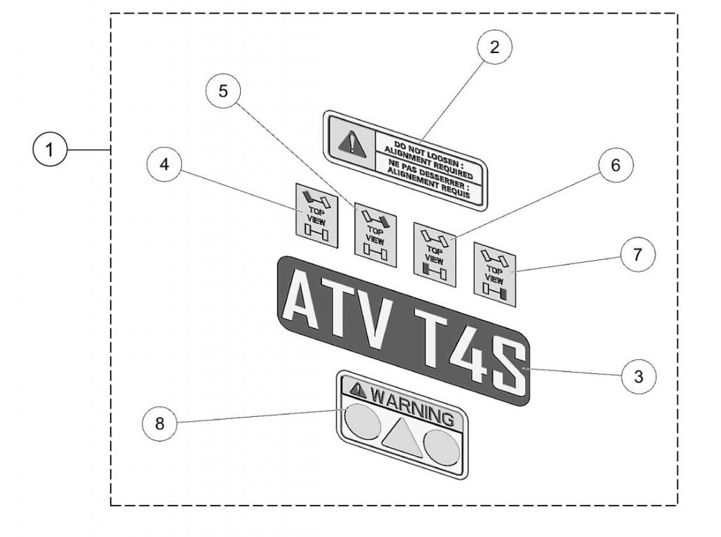Atv T4s Decals