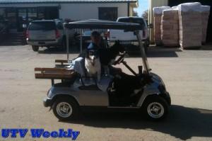 Golf Cart at the Murieta Equestrian Center
