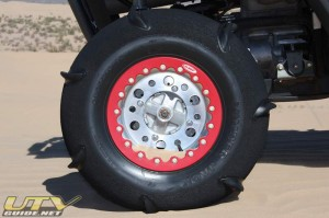 OMF Beadlocks with 7 Paddle Tires