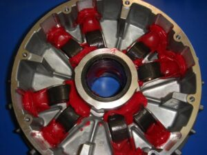 Clutch sheave with grease applied