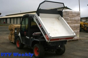 Bobcat Toolcat with Pallet Fork and Dump Bed