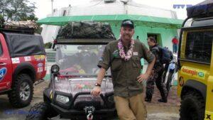 Shannon in Borneo with his Polaris RZR S
