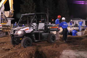 Bobcat 3400 4x4 on the job for Extreme Makeover: Home Edition