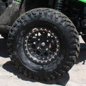 31X1150-15LT Pit Bull Growler mounted on OMF Billet Center Wheels
