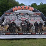 The Mountaineer Run GNCC XC1 Modified class and side-by-side overall podium was comprised of Can-Am Maverick 1000R racers, including runner-up Tim Farr (with co-pilot Julie Farr), winner Kyle Chaney (with co-pilot Chris Bithell) and third-place finisher Larry Hendershot Jr. (with co-pilot Larry Sr.).
