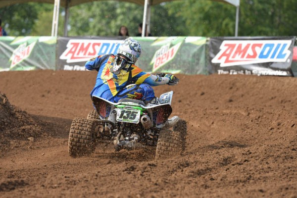 Haedyn Mickelson won both the Open B and 450 B classes at Red Bud