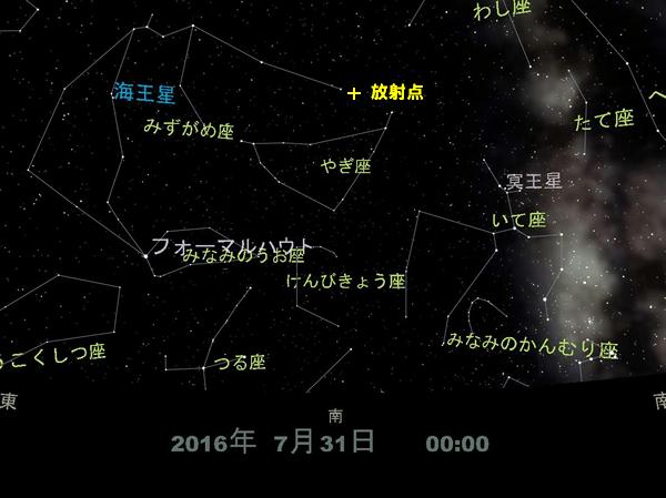 やぎ座流星群の放射点