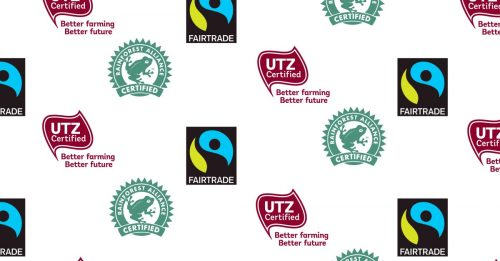 Image result for certifications and standards, utz, fairtrade, RA,  in ghana