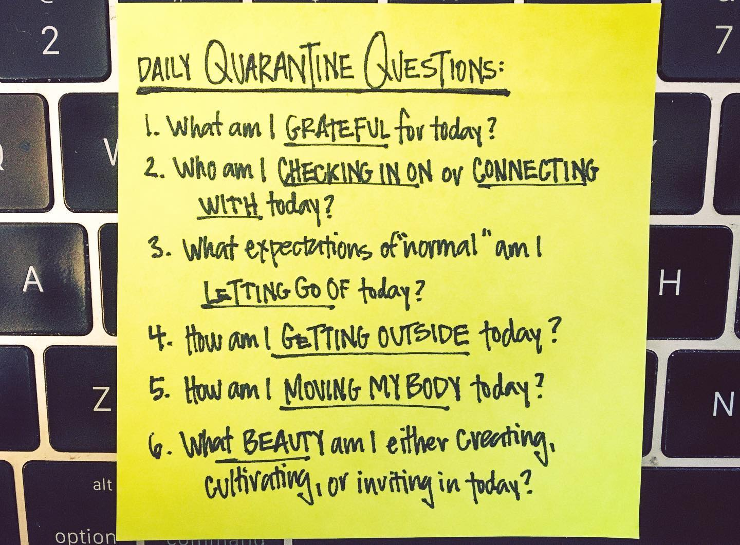 Reflection Questions While Sheltering At Home