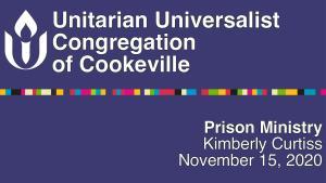 prison ministry service title