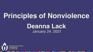 principles of nonviolence january 24 2021 deanna lack