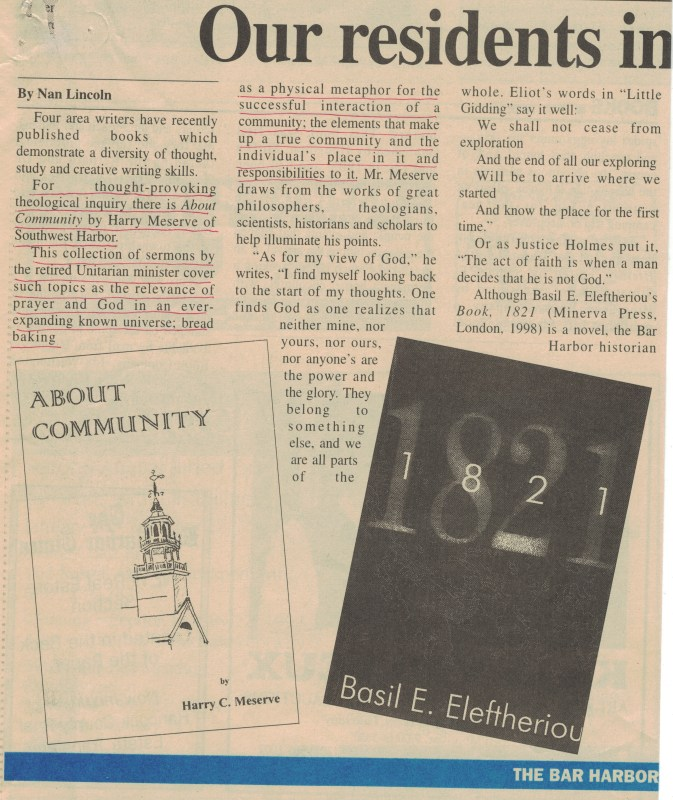 BHT 19990100 Review of Harry Meserve's book