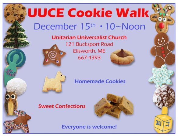 Attention UUCE Bakers: Click image for Cookie Walk details