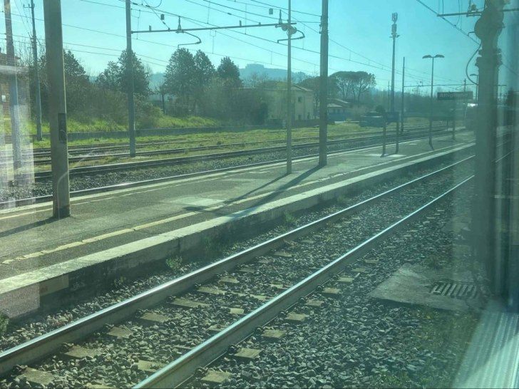 View from a train in Italy