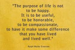 prupose of life emerson