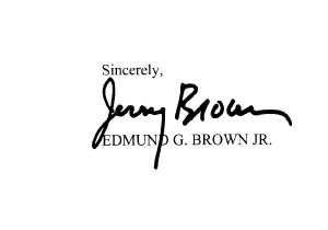 Hello Governor Brown …
