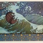Japanese print of ocean waves