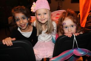 Ap photo of three girls dressed as fairies.