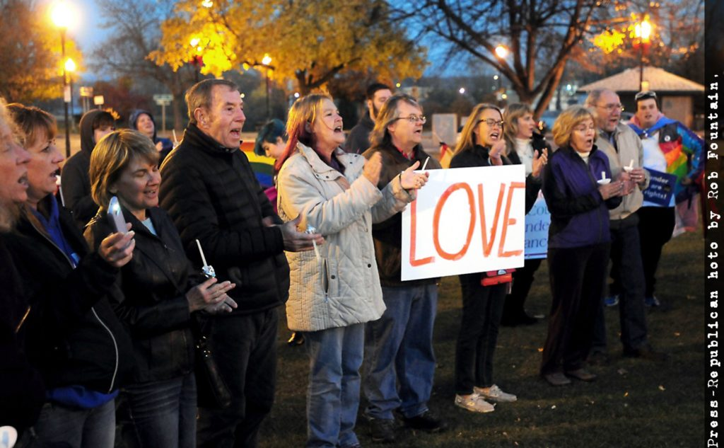 Photo of Standing on Side of Love gathering