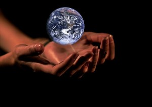 A picture of the world in hands