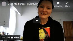 Screen shiot of video with Ulrike discussing March RE offerings