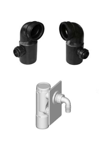 Fluidmaster Schwab Duplo Mini Seinä-wcn Asennuselementti Pesukoneen Poistoyhteellä lisäosat