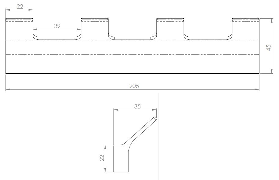 Hietakari-Sandriff Tresor Pyyhekoukku mittakuva