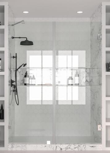 Hietakari Vetro531 Tilanjakaja kiinteällä seinällä ja kääntyvällä ovella