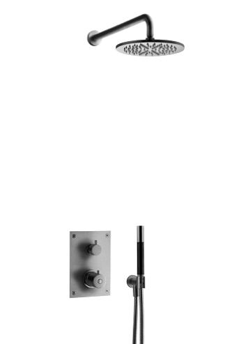 Tapwell BOX 7268 Upotettava Kattosuihku Brushed Black Chrome