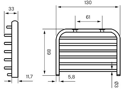 Tapwell TA126 Saippuateline Mittakuva