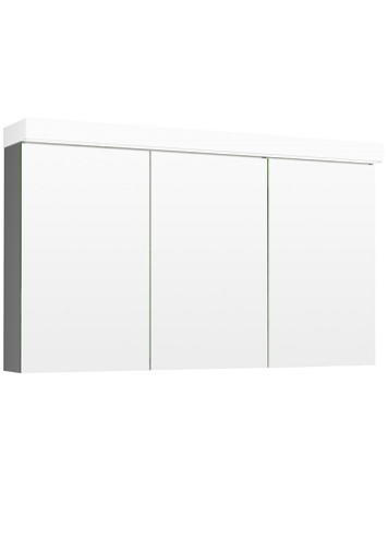 Temal Ecolight Peilikaappi kolmella ovella (vaaleanharmaa)