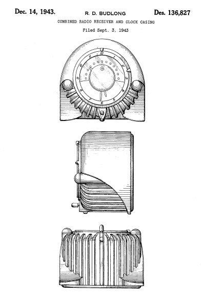 Fantasy Radios-Design Patent Images 1930-1943 (Part 3)