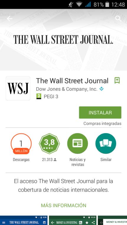 Aplicación disponible en Play Store