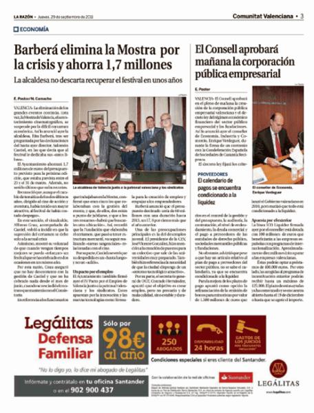 Versión impresa del diario 'La Razón'