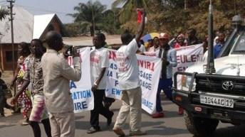 Manifestation pacifique des membres de L'UNC à Uvira