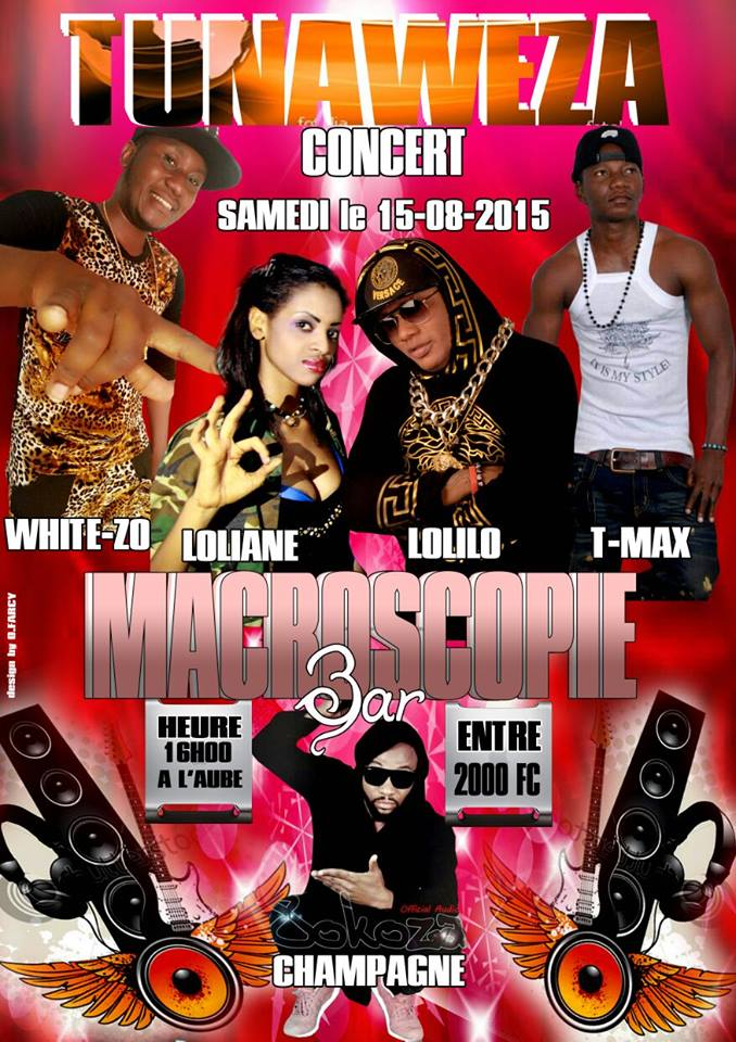 affiche concert white zoo