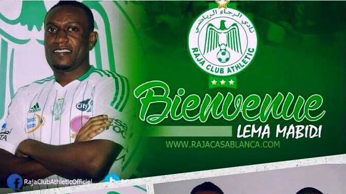 Football: L'international congolais Lema Mabidi s'engage avec le Raja de Casablanca pour une durée de quatre ans